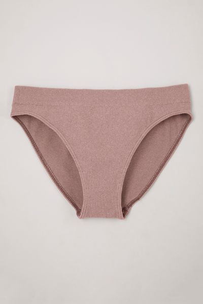 Seam Free Pink Rib High Leg Briefs