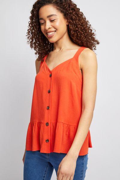 Orange Peplum Cami