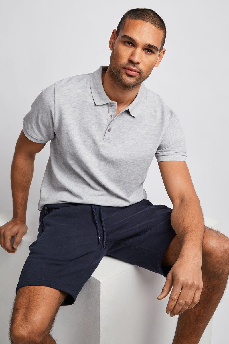 Navy Marl Sweat Shorts