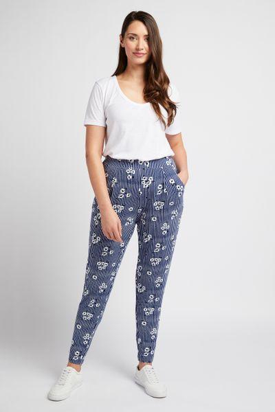 Blue Floral Harem Trousers