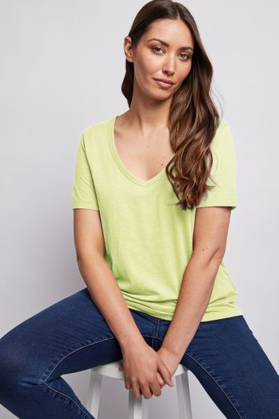 Short Sleeve Loose Fit Lime T-shirt
