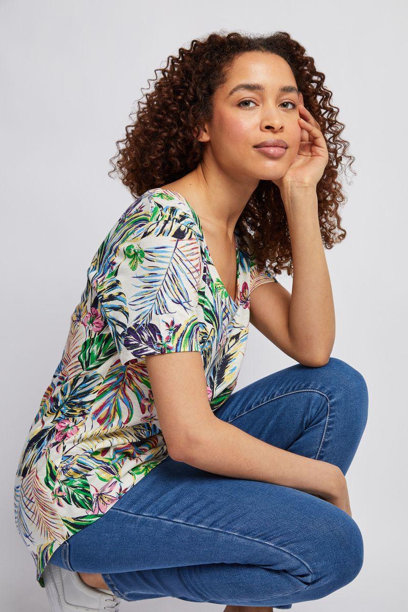 Tropical Print Loose T-shirt