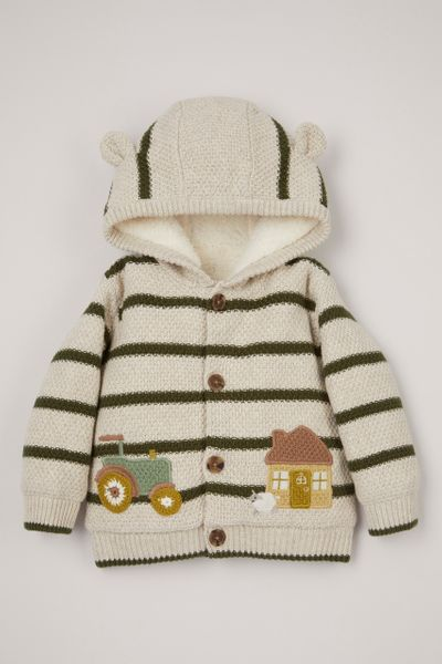 Tractor Borg Lined Cardigan