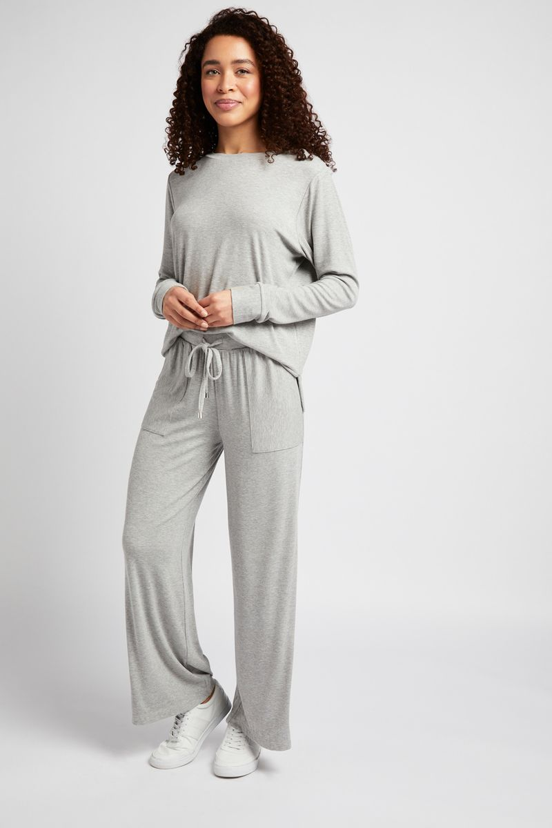 Wide Leg Ribbed Co-ord Joggers