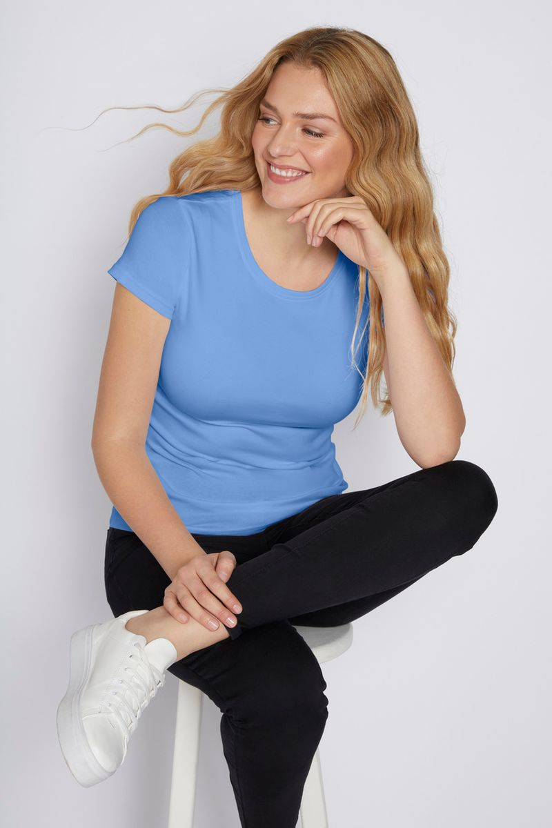 Blue Fitted T-shirt