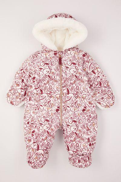 Floral Print Snowsuit