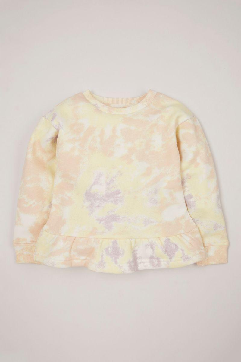 Yellow Tie Dye Sweatshirt
