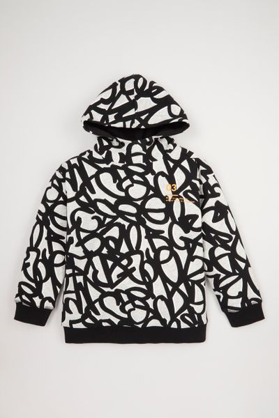 Monochrome Graffiti Hoodie