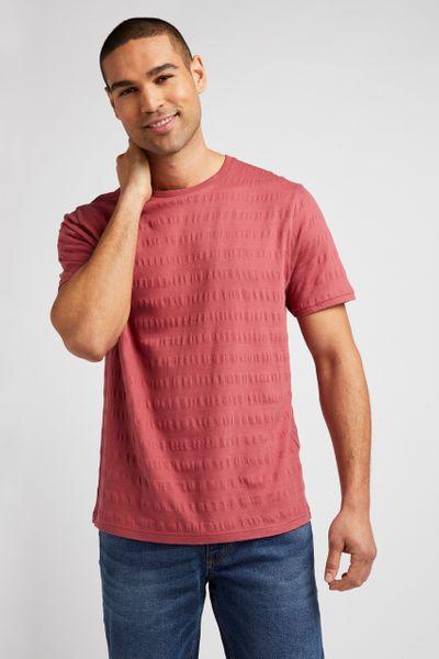 Rust Jacquard Stripe T-shirt