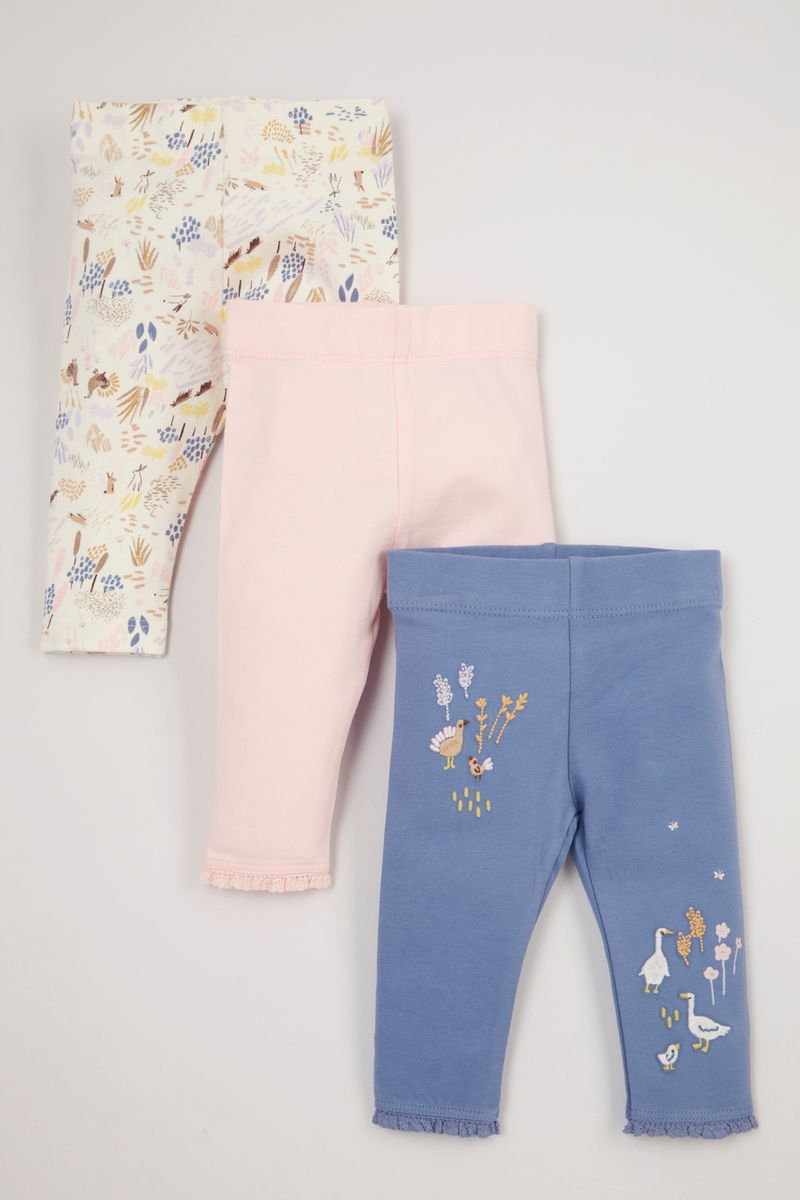 3 Pack Cottage Embroidered Leggings
