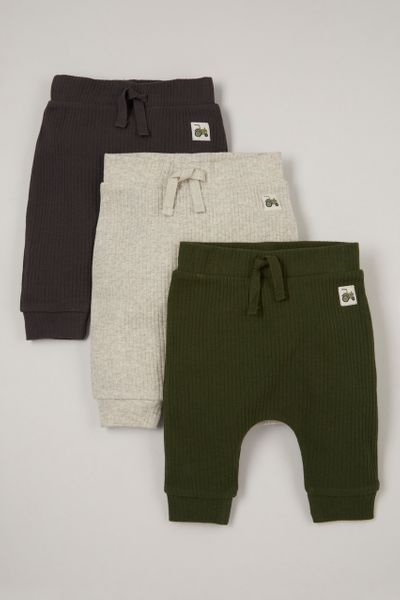 3 Pack Tractor Chunky Rib Joggers