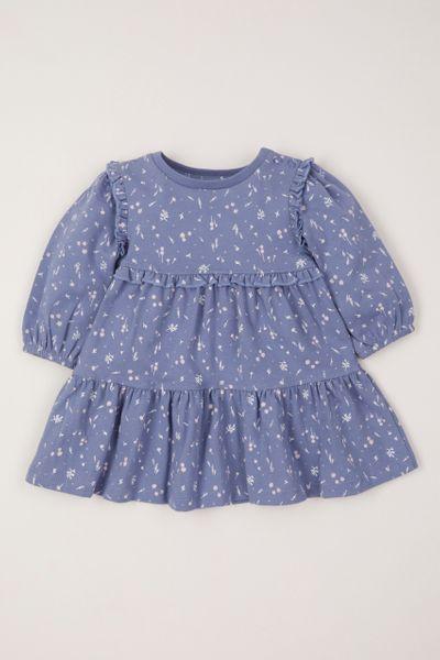 Blue Flower Tiered dress