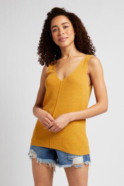 Ochre Knitted Vest