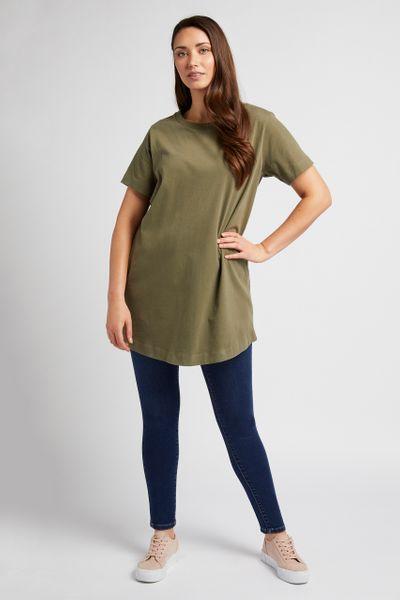 Longline Khaki T-Shirt