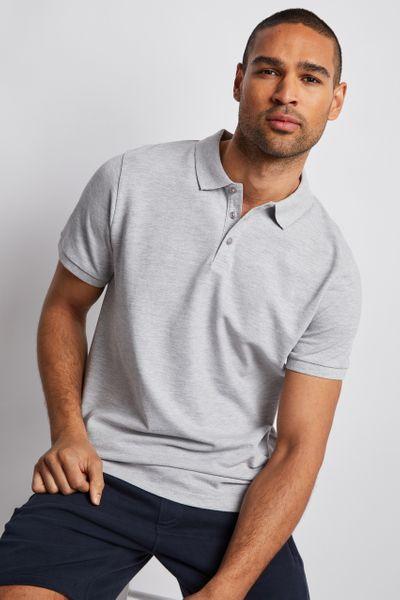 Grey Marl Polo Shirt