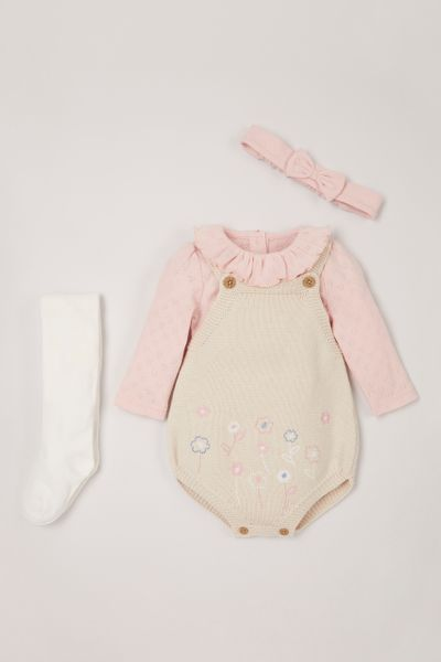 4 Piece Knitted Romper Set