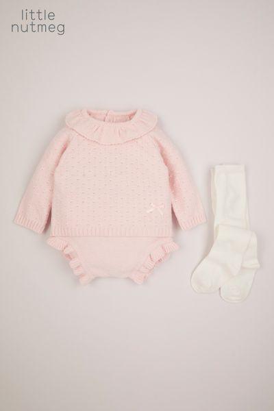 Little Nutmeg 3 Piece Pink Knitted Set