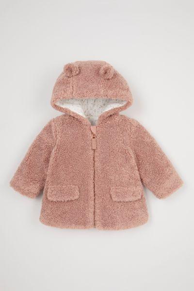 Dusky Pink Borg Coat