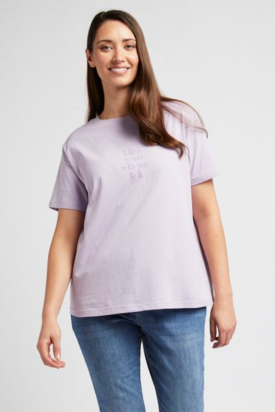 Embroidered Lilac T-shirt