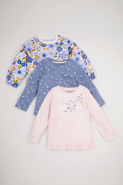 3 Pack Butterfly Long Sleeve T-Shirts