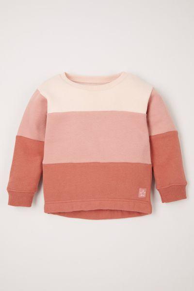 Pink Colour Block Sweatshirt 1-10 yrs