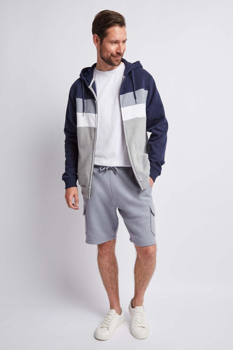 Denim Blue Cargo Sweat Shorts