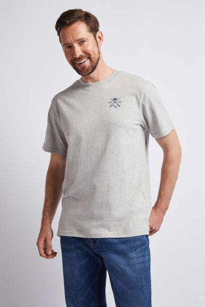 Grey Surf Graphic Print T-shirt