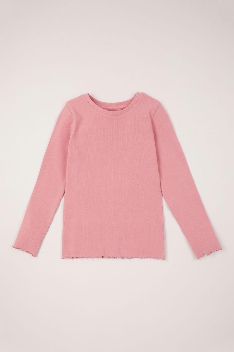 Pink Ribbed T-Shirt 3-14yrs