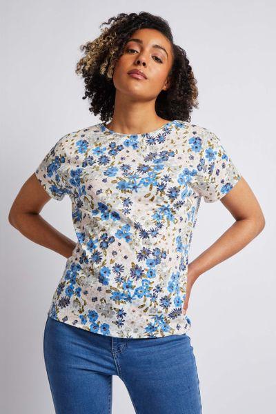 Soft Floral Lightweight T-shirt