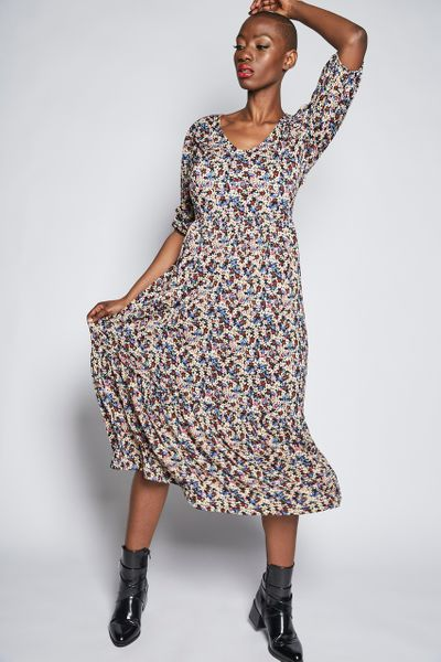 Ditsy Floral Crinkle Dress