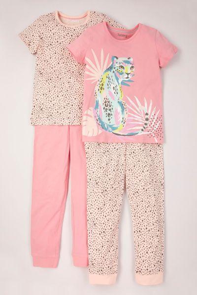2 Pack Leopard Pyjamas