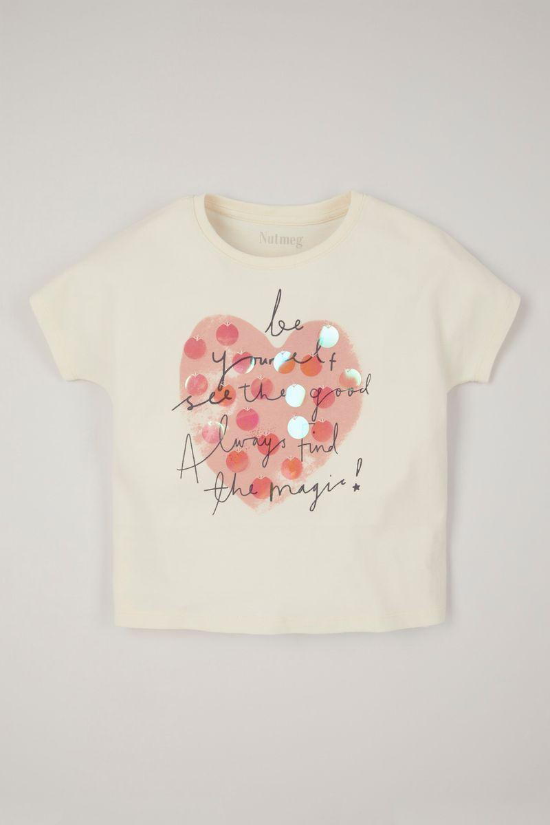 Heart Slogan Relaxed T-shirt