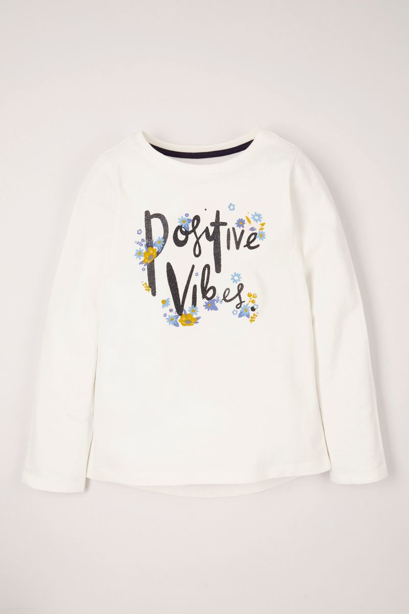 Positive Vibes Print T-Shirt
