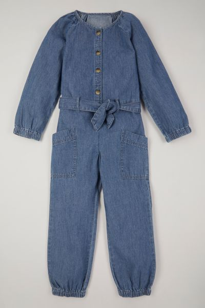 Denim Acid Wash Boiler suit