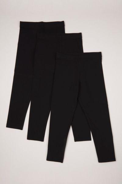3 Pack Soft Black leggings