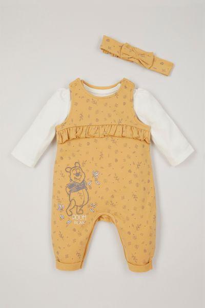 Disney Winnie the Pooh Dungaree & Headband set