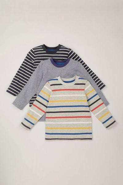 3 Pack Stripe Long Sleeve T-shirts