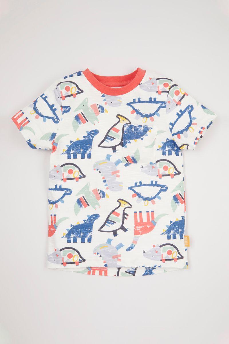 Colourful Dino Print T-Shirt