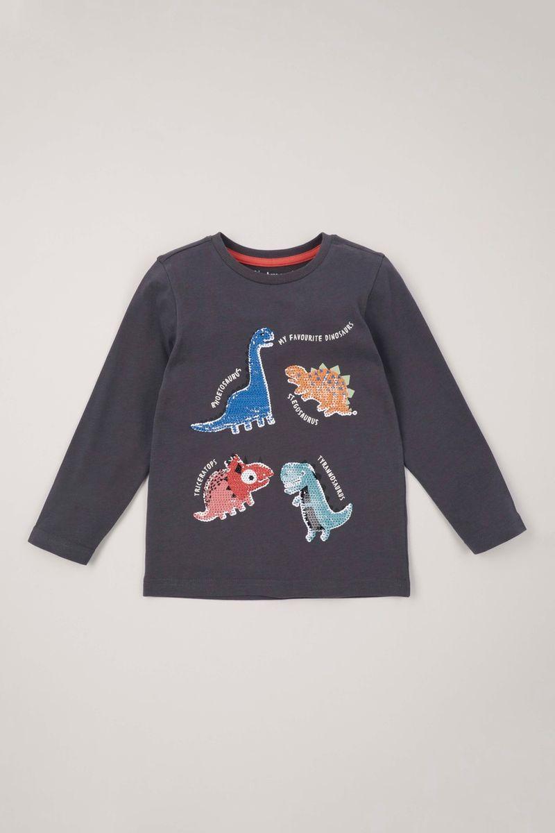 Long Sleeve Dino Sequin T-shirt