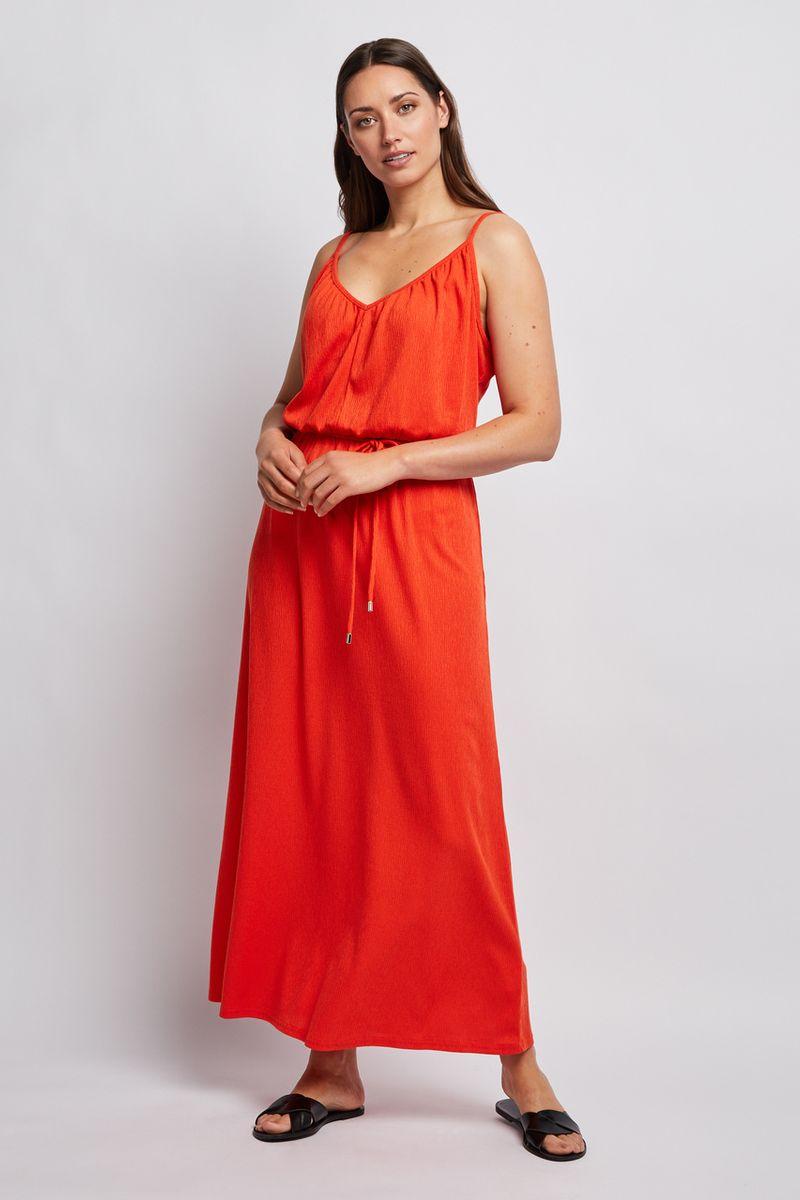 Orange Jersey Maxi Dress