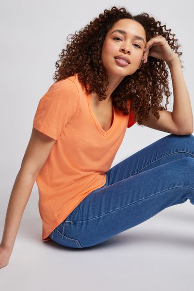 Online Exclusive Coral Loose Fit T-shirt