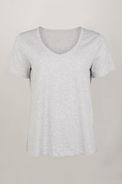Online Exclusive Loose Fit Grey Marl T-shirt