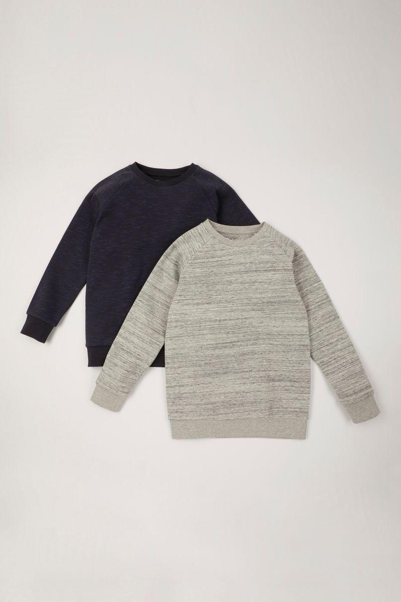 2 Pack Grey Marl & Slate Sweatshirts