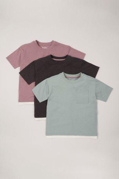 3 Pack Purple Green T-shirts