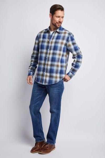 Brushed Blue Check Shirt