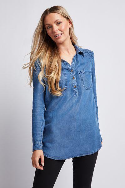 Denim Tunic Shirt
