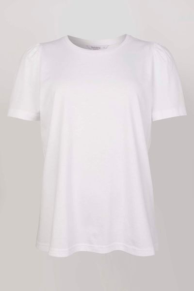 White Puff Sleeve T-shirt