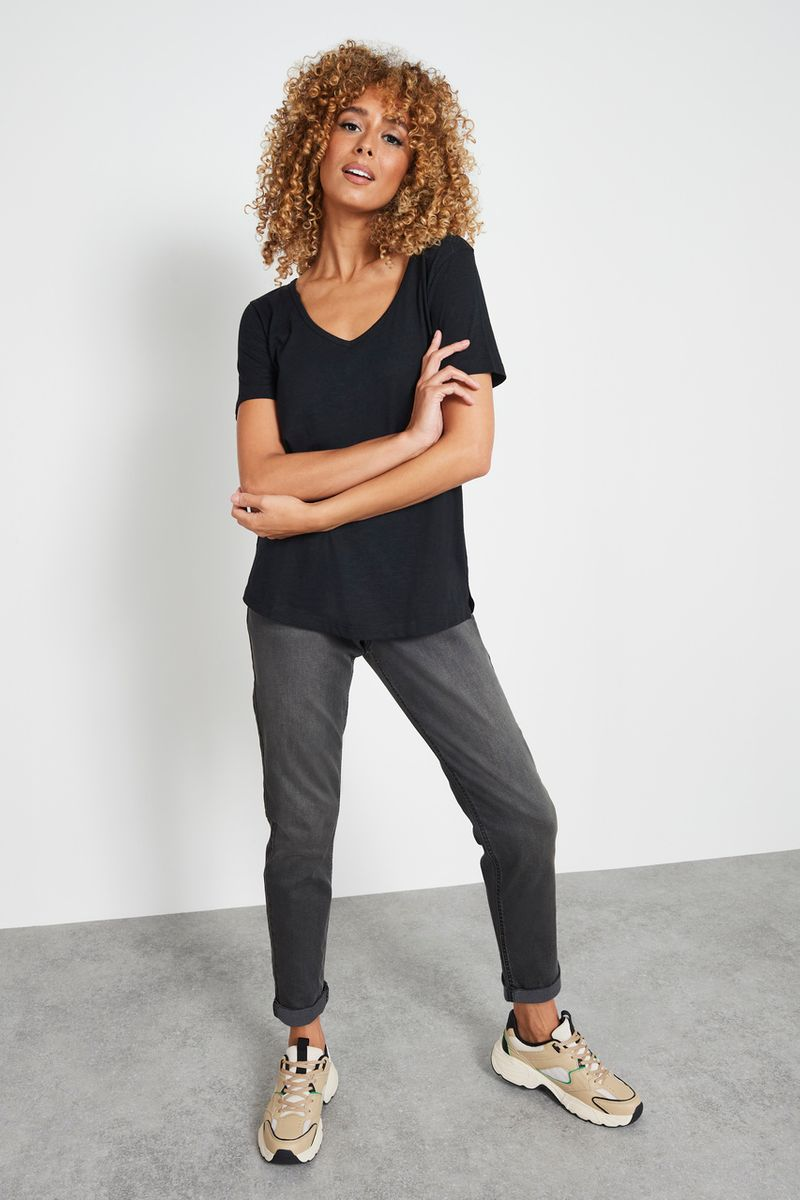 Charcoal Relaxed Roll Leg Jeans
