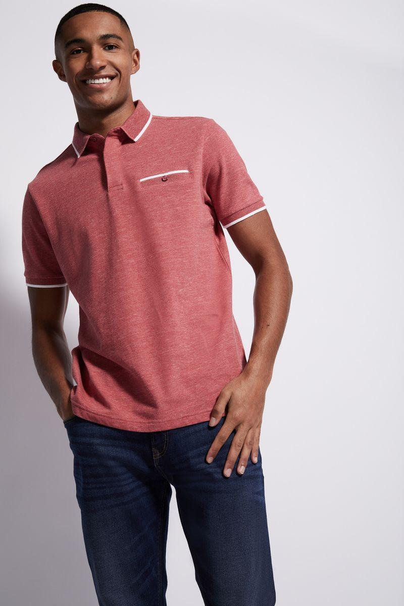 Rust Textured Polo shirt