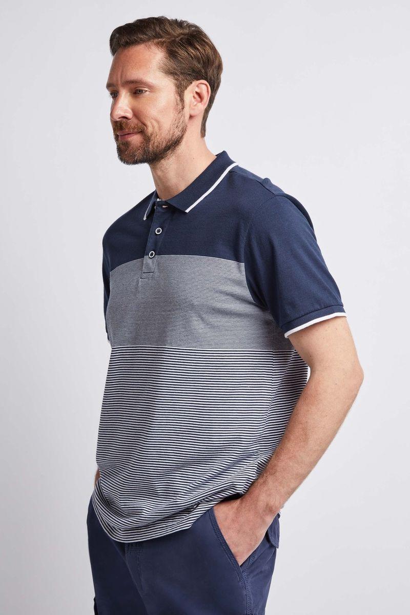 Navy & White Stripe Polo shirt